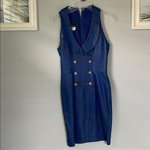 Vintage Leather Mini Dress